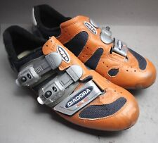 Diadora Sport Bike Bicycle Shoe look Cleats/sz. 41/Orange Leather Carbon