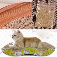 Pet Cat Kitten Scratching Scratcher Pad Catch Board Mat Catnip Bed Pad Post Toy
