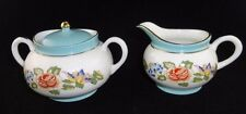 Aynsley English China - Cottage Garden - Mini Creamer & covered Sugar Bowl