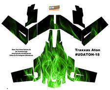 Green Fire Traxxas Aton Plus Flames Body Wrap Decal Skin Sticker Canopy