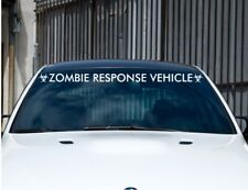 Zombie Response Big Vehicle Banner Sticker Car or Truck Front Windshield Large
