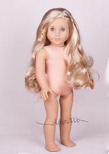 Custom American Girl Doll Caroline eyes Mary Grace Tenney wig, box, OOAK  nude