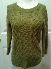 J. Crew Sweater Womens Army Green Alpaca Wool Pullover Knit Size XS