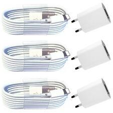 3x Netzteil + 3x 1m USB Ladekabel für iPhone XS Max iPhone XR iPhone 8 iPad weiß