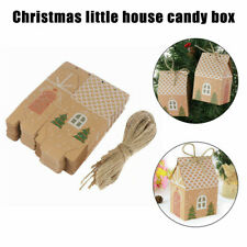 20pcs Christmas Candy Gift Bags Xmas Cookie Packaging Party Boxes Sweets Box