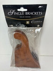 """Cambria Single Brackets Solid Wood Brown Pack of 2 With Hardware  5.25"""""""