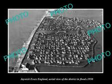 OLD LARGE HISTORIC PHOTO OF JAYWICK ESSEX ENGLAND, DISTRICT AERIAL VIEW c1950 1