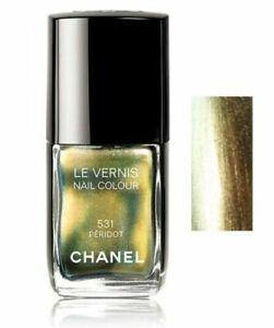 CHANEL 531 Peridot Nail Polish New in Box NWB (golden green)