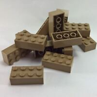 15 NEW LEGO Brick 2 x 4 BRICKS Dark Tan