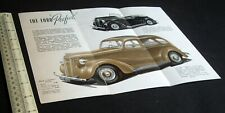 1938 UK Ford Dagenham Prefect Motor Car Brochure Catalogue Leaflet