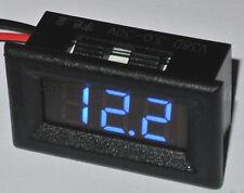 LED Panel Voltmeter 3 Stellig Steckbar 3,3-30V DC Auto Range Blau 10mm 0.36 inch