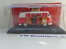 + VOLKSWAGEN VW T1 Bus Camper Westfalia von Hachette 1:43 rot-weiss G1Y10001