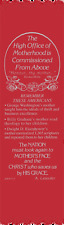 """""""High Office of Motherhood"""" Mother's Day Bible Bookmark Ribbons, pack of 10"""