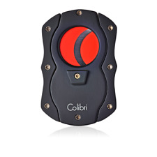 NEW Colibri Cigar Cutter Black & Red Coloured Blades Guillotine 62 Ring Gauge