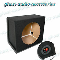 "12"" Empty Sub Subwoofer Enclosure MDF Black Carpted Boom Box"