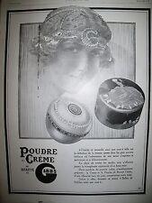 PUBLICITE DE PRESSE GIBBS POUDRE DE CREME ET DE BEAUTE FRENCH AD 1926