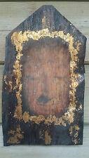 Dachpfanne 28cm Holz Buddha bild Mönch Dachschindel Buddhismus Feng Shui