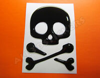 Pegatina Calavera 3D Relieve - Color Negro