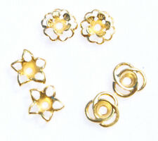 Earring Jackets beautiful Gold Stars,loops and Flowers