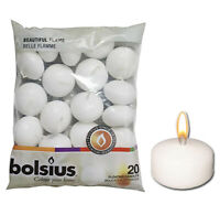 Bolsius Flame Floating White Candles For Wedding & Home Decoration Various Pack