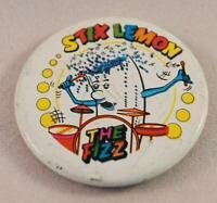 Vintage Stix Lemon The Fizz Advertising Pin Pinback Button
