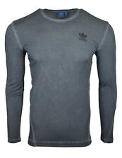 Adidas Originals Street Modern Grey Overdyed Long Sleeve T-Shirt AY9193 !