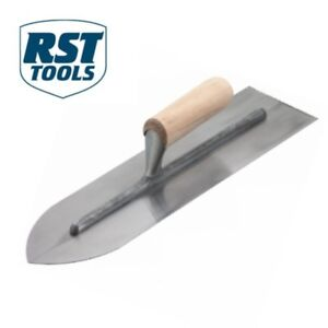 RST 16in Cement Flooring Trowel for Concrete with Wood Handle 400mm RTR201