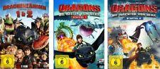 10 DVDs * DRACHENZÄHMEN LEICHT GEMACHT (1+2) + DRAGONS (1+2) IM SET # NEU OVP +