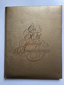 Gold Embossed Our 50th Wedding Anniversary Keepsake Album CR GIBSON 1991