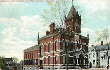 c1907 Printed Postcard Iowa Masonic Library, Cedar Rapids IA Linn County Posted