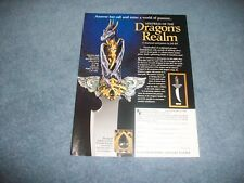 2002 Franklin Mint Mistress of the Dragon's Realm Art Knife Vintage Ad