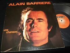 ALAIN BARRIERE<>UNE CHANSON..<>LP Vinyl~Canada Pressing<>ABL-7100
