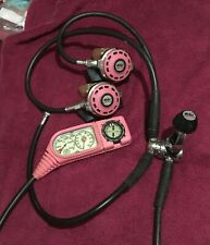 Pink ProSub Dx500 1St-2Nd Stages, with Tusa Manifold, Psi, Depth, Compass, Knife