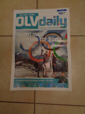 SOCHI 2014 OLYMPIC NEWSPAPER OLYMPIC VILLAGE 1 DAY TO GO