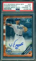 2019 Bowman Chrome Wander Franco Rookie Orange Refractor RC Auto /25 PSA 10