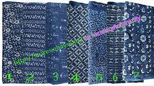 Wholesale Lot Of Indigo Color Hand Block Print Fabric Dabu Work Cotton