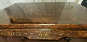 John Widdicomb Asian Inspired Table: Hand Carved: Beautiful Condition