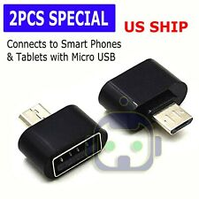 Micro USB B Male to USB 2.0 A Female OTG Adapter for Samsung S5 S6 S7 Note 2 4 5