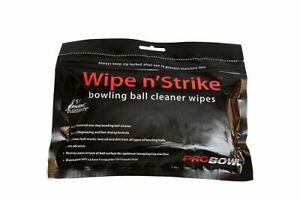 Wipe 'n' Strike Tenpin Bowling Ball Cleaner Wipes 3 pk