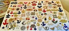Vintage Nautical+Stars+More Applique Crafting Sew On Patches 100+ Beautiful Lot!