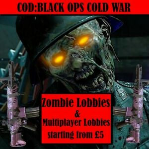 COD Cold War Zombies Modded Boosting Lobby - Player Rank / Weapon XP / Gun Camos