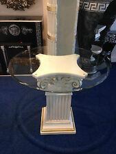 Glastisch Esstische Barock Säulen Wohntisch aus Stuckgips modern 60/54 k 108 Top