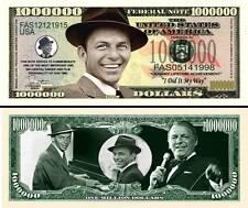 Frank Sinatra Million Dollar Bill Collectible Fake Play Funny Money Novelty Note