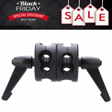 Dual Swiveling Grip Head Angle Clamp for Photo Studio Boom Arm Reflector Black
