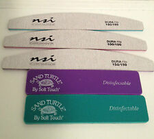 3 x NSI Dura Files & 2 x Turtle File Set for Gel / Acrylic Nails