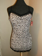 new No Boundaries leopard spot Cami tank top med 7/9 stretch removable bra pad