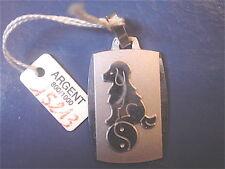 SIGNE DU ZODIAQUE CHINOIS CHIEN VINTAGE 70  ARGENT 800  NEUF/ DOG CHINESE ZODIAC
