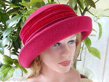 Eleganter Damenhut  Wollhut Mattweinrot Modell Bestseller Damenhüte Anlasshüte