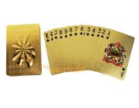 Good Fortune Gold Playing Cards 24k Foil Plated Full Deck Poker Gamble Luxury