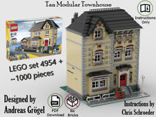 Tan Modular Townhouse LEGO 4954 MOC instructions only